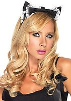 Lace Trimmed Maid Kitty Ear Headband