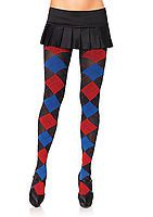 Opaque Woven Argyle Tights