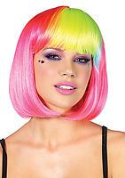 Pop Rainbow Bang Bob Wig