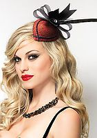 Retro Lurex Fascinator Hair Clip With Rhinestone And Feather