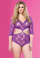 Cut Out Floral Lace Teddy