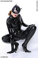 Latexkatzenmaske Latexa 1205