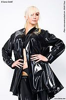 Genähter Damen-Latexkurzmantel Latexa 3005