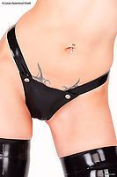 Damen-G-String aus Latex mit Nieten Latexa 3053