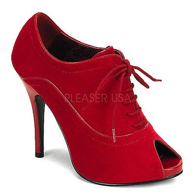 BORDELLO Shoes Wink WINK-01 rot velvet